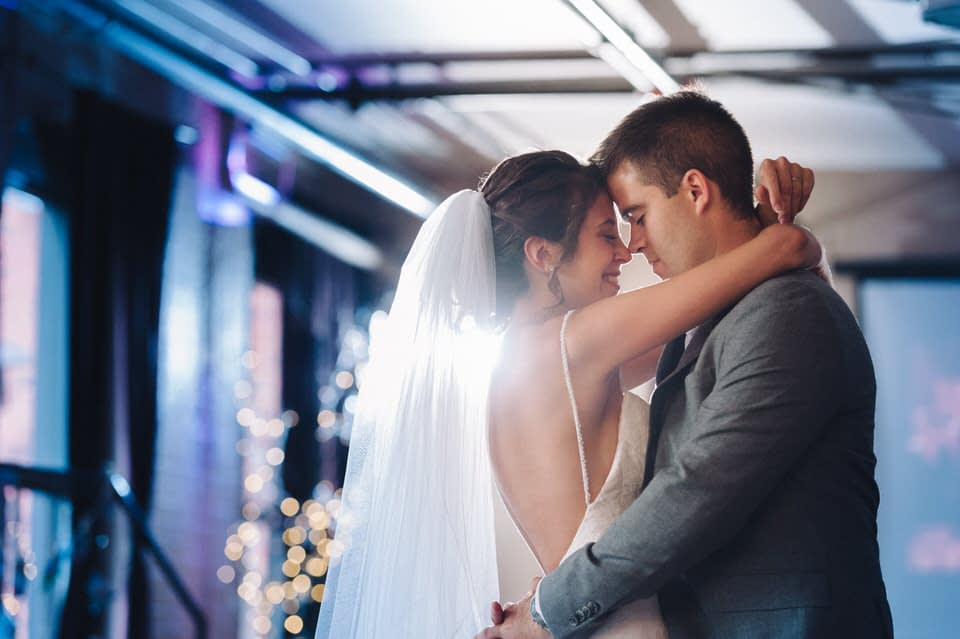 Romantic first dance at Espace Canal wedding venue