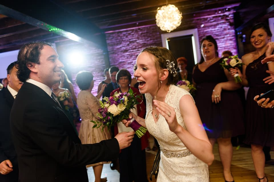 Everyone starts dancing as wedding couple arrives at Canvas Montreal 02