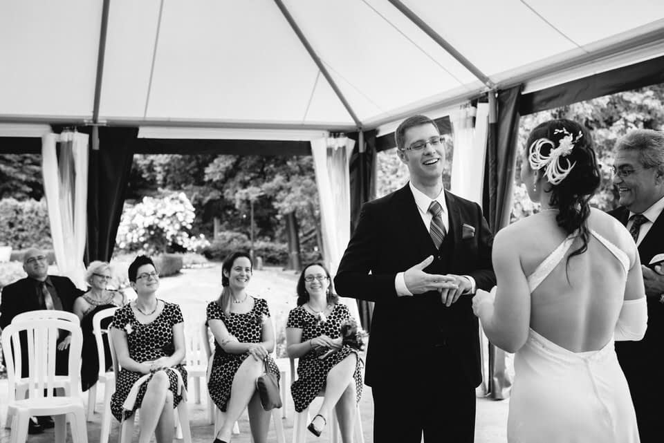 Wedding ceremony at Manoir Rouville-Campbell