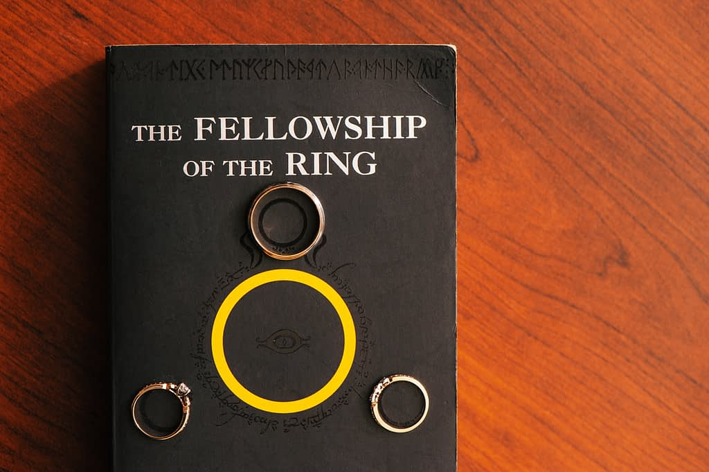 lord of the rings wedding photo