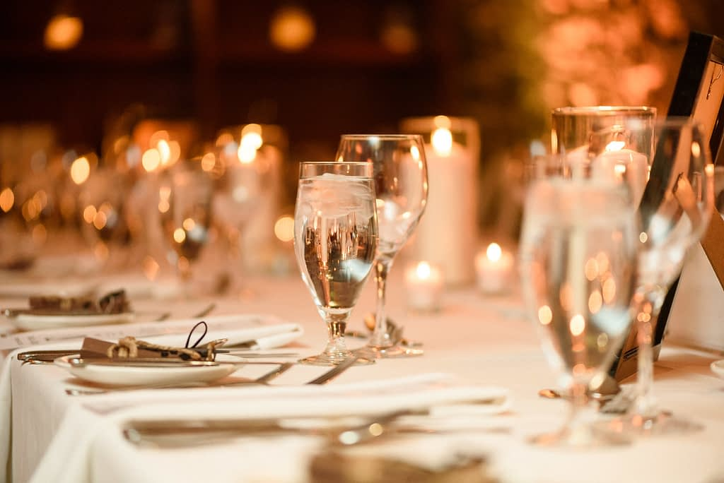 Table decor and candlelight