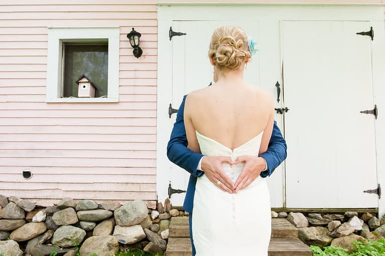 Intimate family wedding at the Old Mansion House, in Georgeville, Quebec