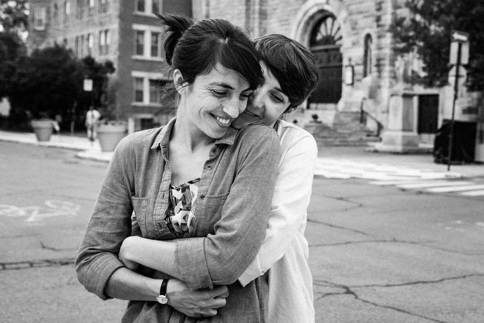 Queer couple portraits in Montreal