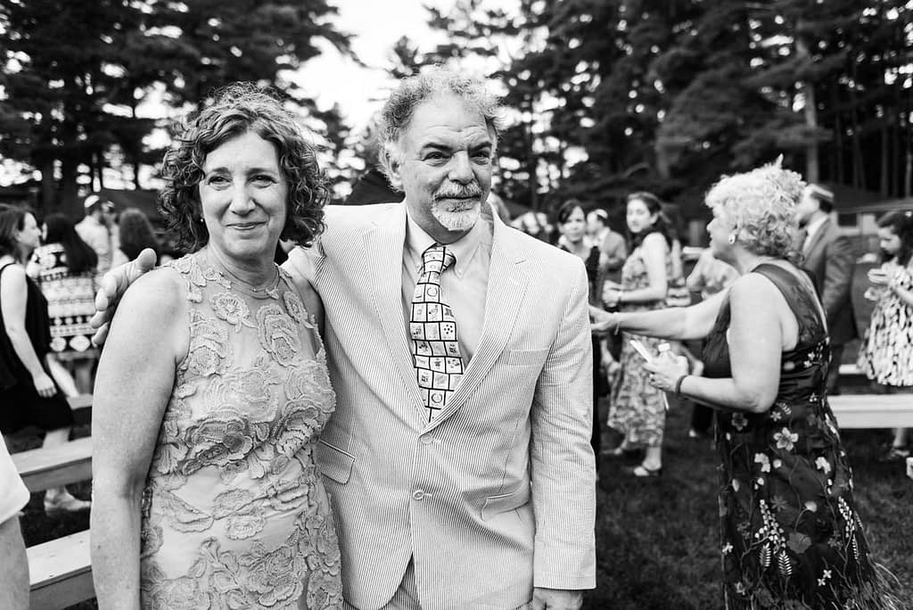 Parents emotional at wedding ceremony in Massachusetts