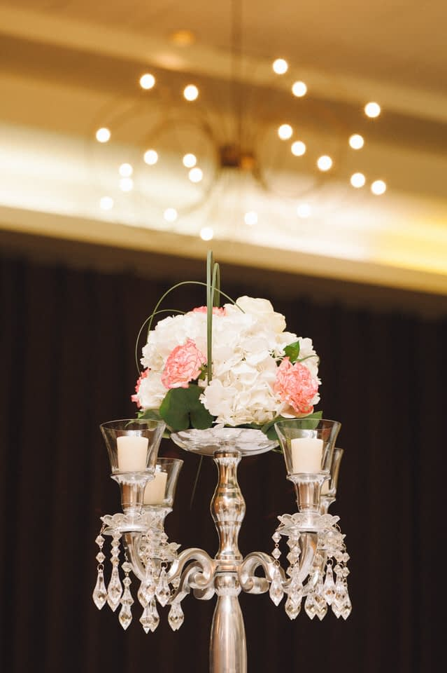 Chateau Bromont wedding centrepiece