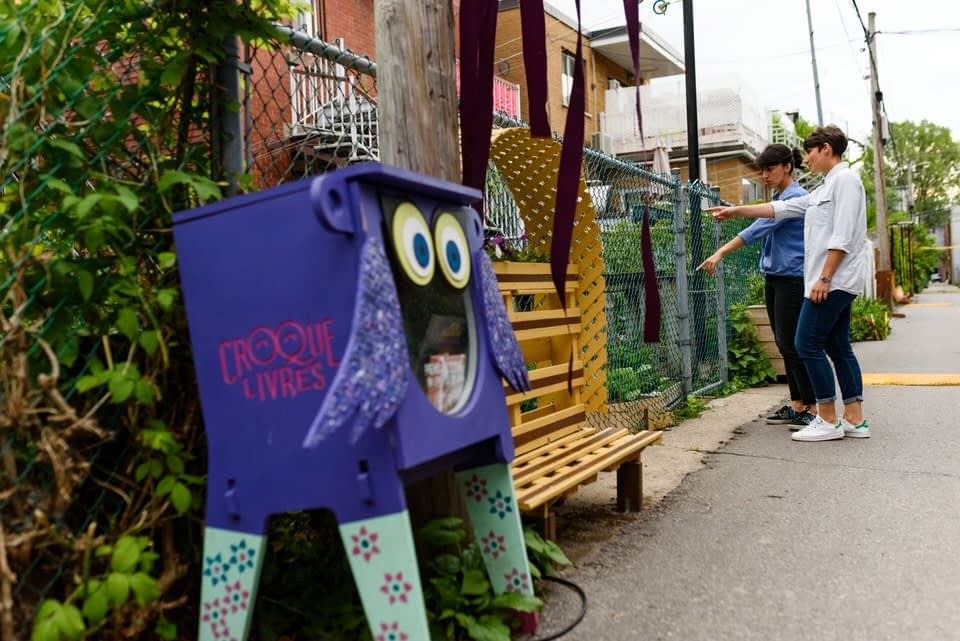 Small free library in back alleys