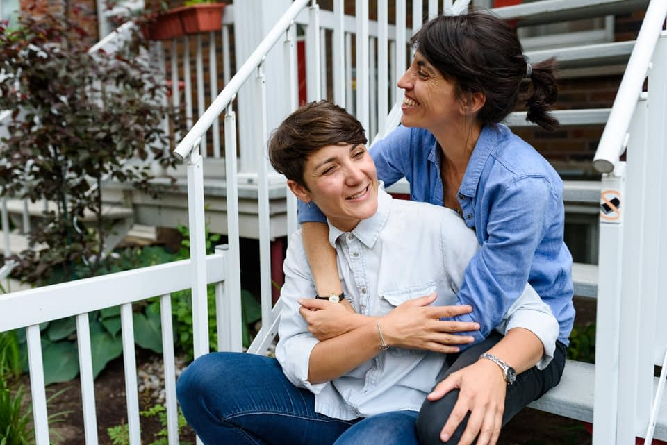 LGBT engagement photos in Villeray Montreal