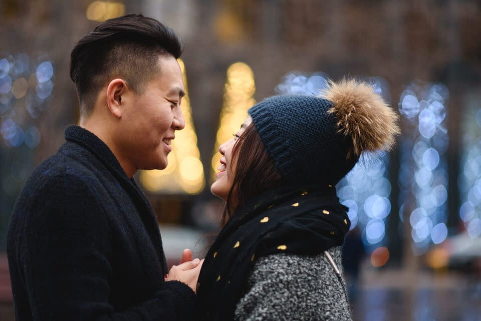 Couple's photoshoot in Place d'Armes