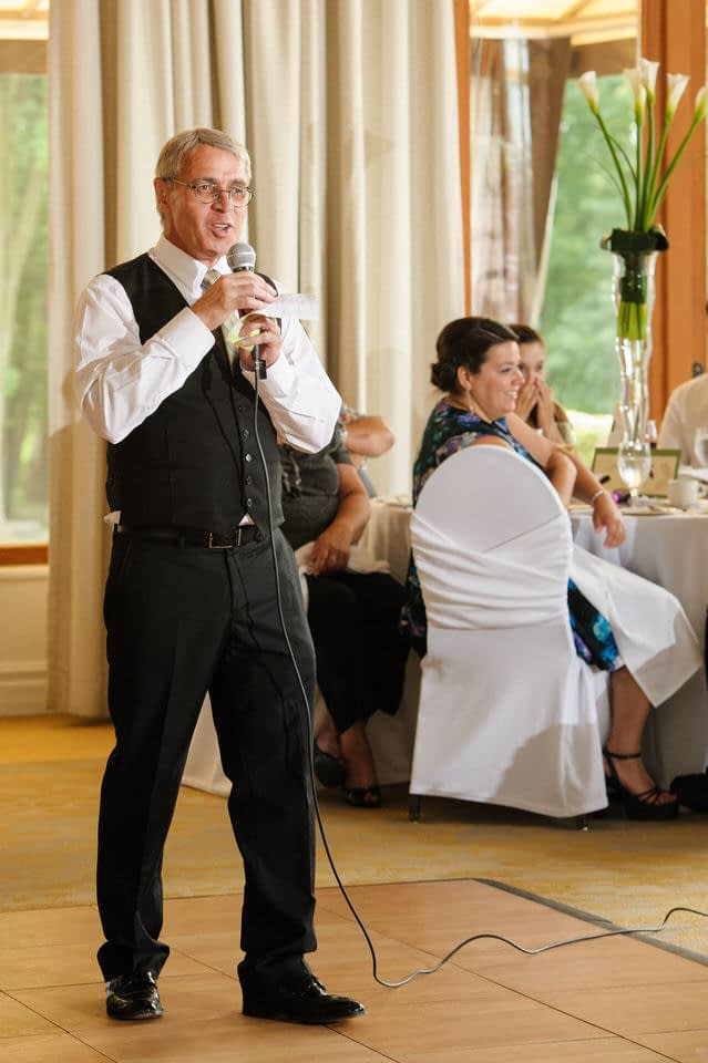 Father of bride giving a speech