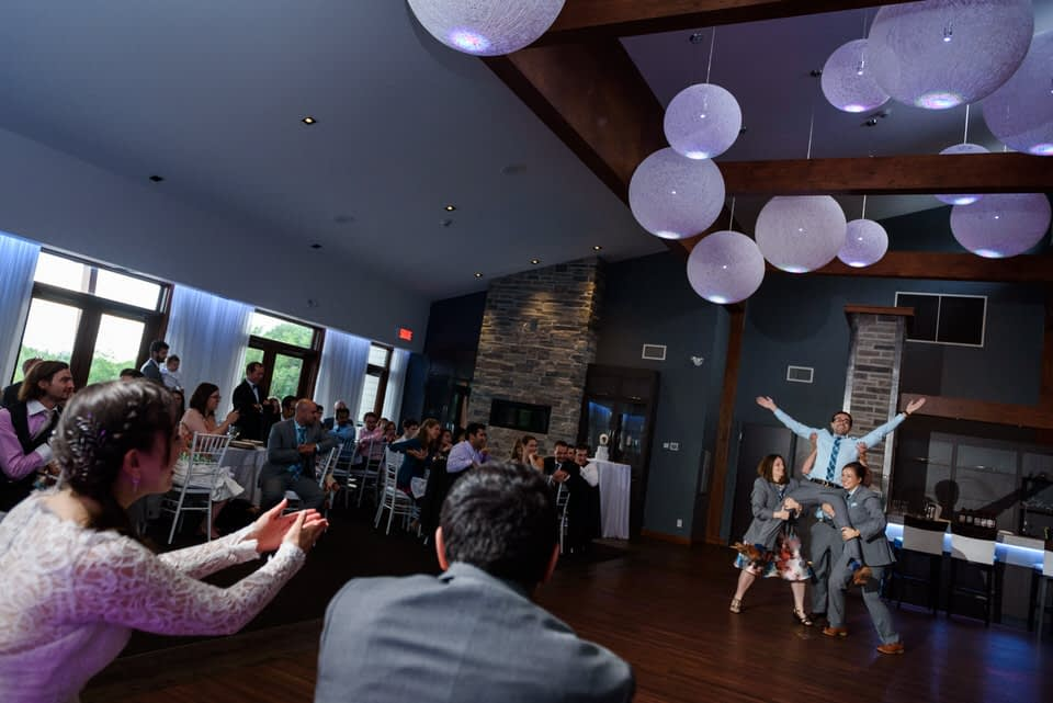 Bridal party performing A Millions Ways to be Cruel dance by OK GO 03