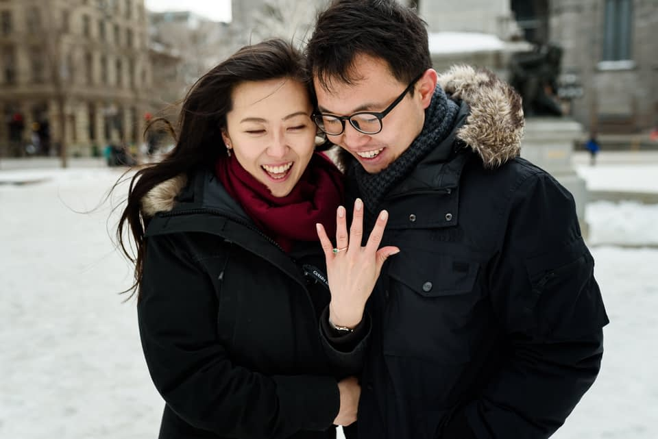 Just engaged photos after surprise proposal in Montreal 02