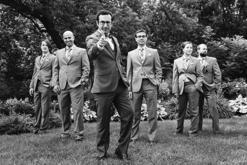 Groom and his team
