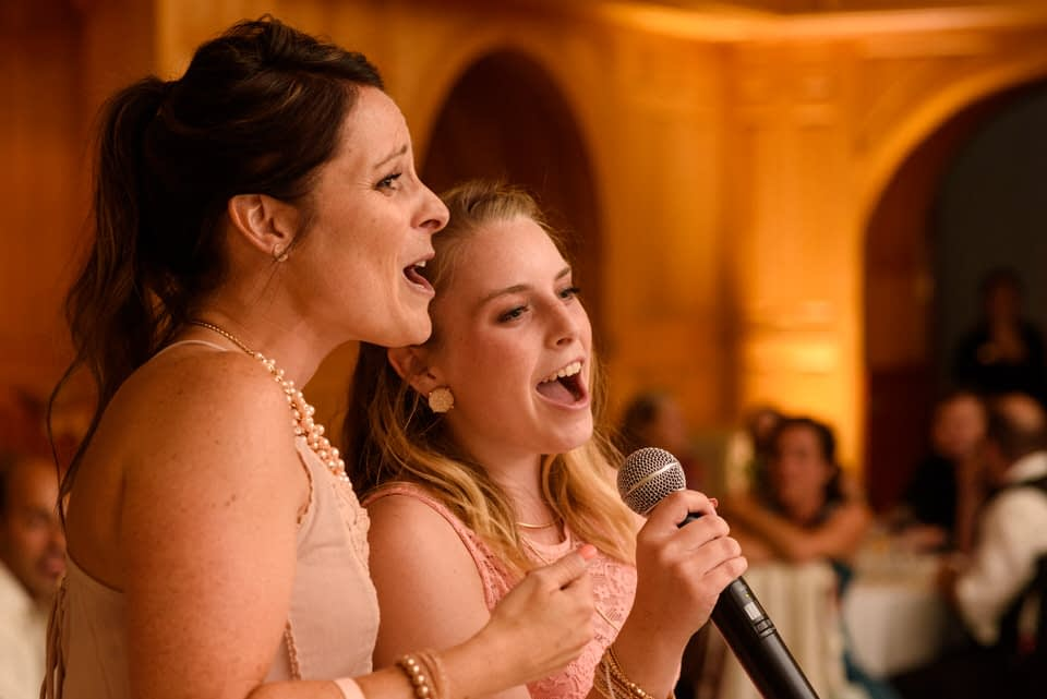 Guests singing a song