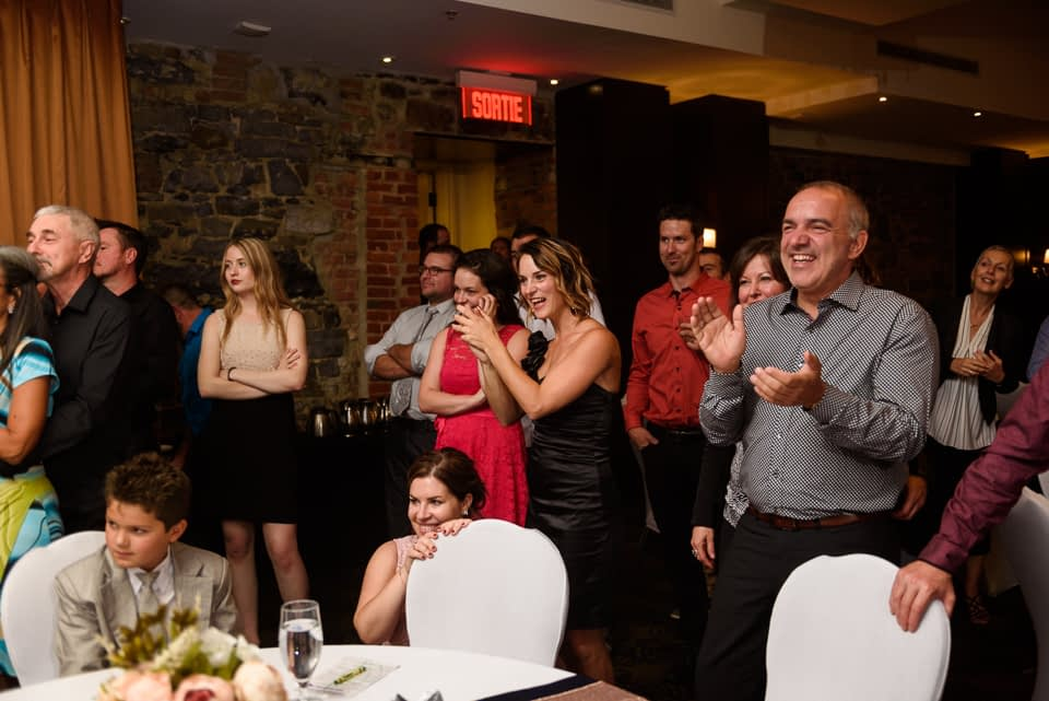 Guests watching first dance
